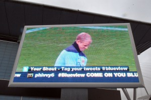 Twitter on a City Square big screen
